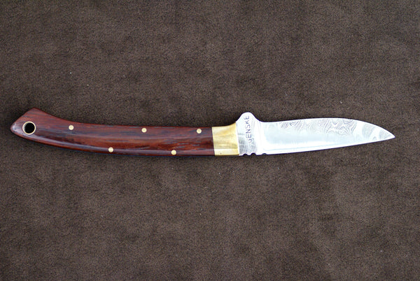 Genske, Jay - Ironwood Small Game Hunter w/Sheath - Fixed Blade