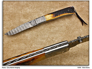 Evans, Vince - Jigged Bone Drop Point - TailLock Folder