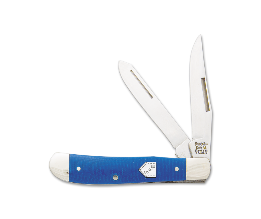 "Blue Jeans Series - Trapper, 2-Blade - G10 (3-1/2"") PocketKnife -SlipJoint Folder"