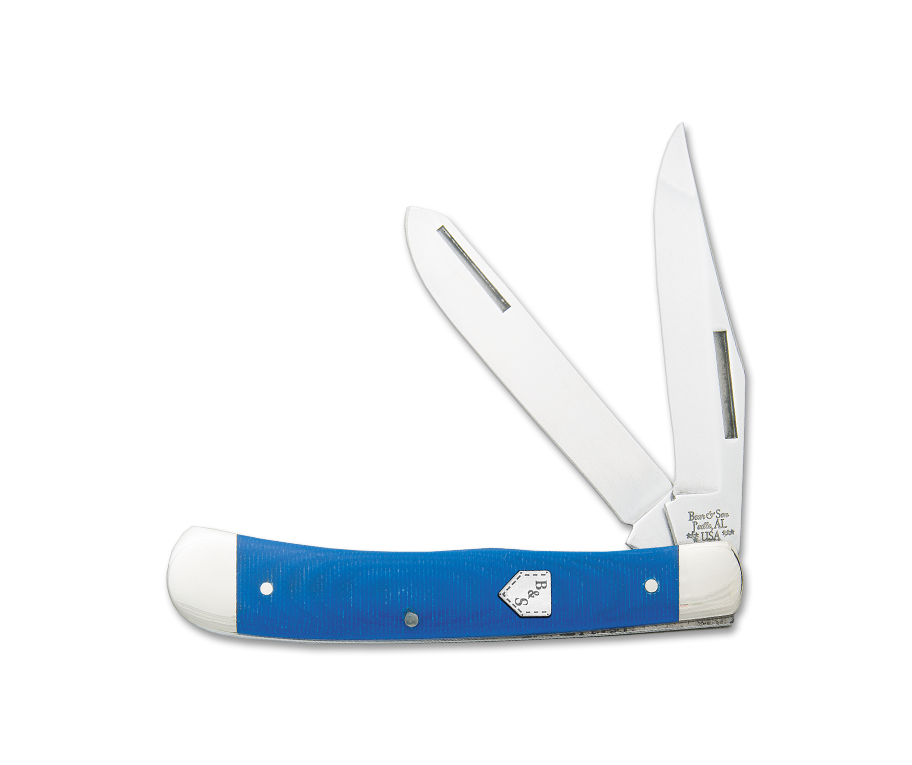 "Blue Jeans Series - Trapper, 2-Blade - G10 (4-1/8"") PocketKnife - SlipJoint Folder"