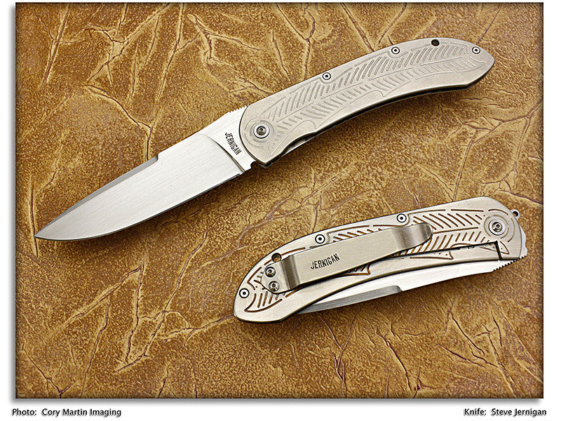 Jernigan, Steve - ASP-07 Carved Tactical Flipper - Linerlock Folder - P-Edge