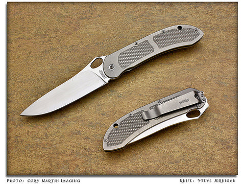 Jernigan, Steve - ASP-24 Titanium Tactical Flipper - Linerlock Folder - P-Edge
