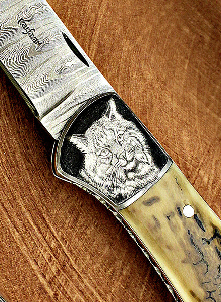 Kalfayan, Ed - Mammoth Ivory DeCamillis Engraved - LockBack Folder