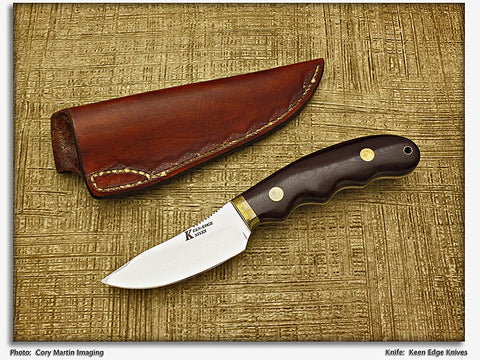 Keen, Red - Micarta Hunter/Skinner w/Sheath - Fixed Blade