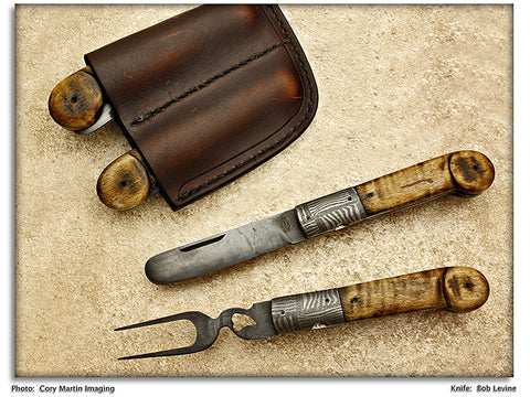 Levine, Bob - Williamsburg Period Knife & Fork Set – LinerLock Folding