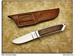 Lile, Jimmy - Cocobolo Integral Hunter (Mark: LILE) - Fixed Blade
