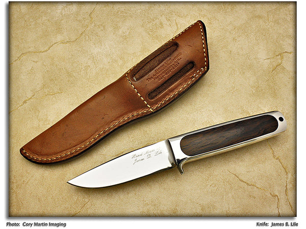 Lile, Jimmy - Rosewood Integral Hunter (Mark: James B. Lile) - Fixed Blade