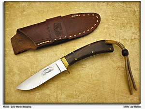 Maines, Jay - Rosewood Drop Point Hunter - Fixed Blade