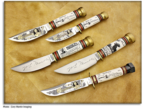 Marble's 1998 Set of 5 100th Anniversary Knives