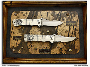 "Marzitelli, Peter - Dino (Baby ""P"" & Baby ""T"") Folder Set - LinerLock Folder"