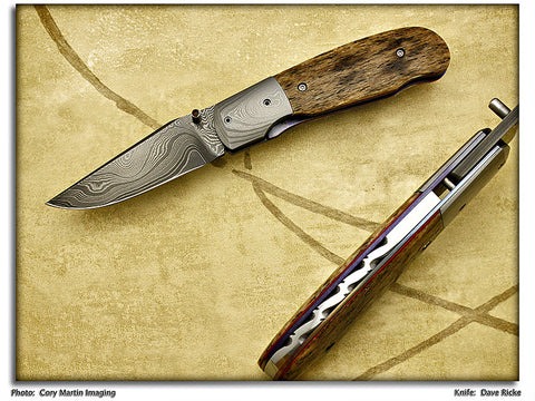 Ricke, Dave - Whale Bone Locking PocketKnife - LinerLock Folder