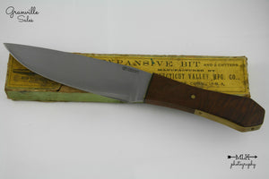 Rossdeutscher, Bob - Walnut Coffin Handle Period Bowie - Fixed Blade
