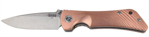 Spider Monkey - Copper Drop Point Style - LinerLock Folder