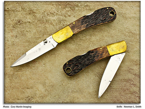 Smith, Newman - Jigged Bone Pocketknife - Lockback Folder