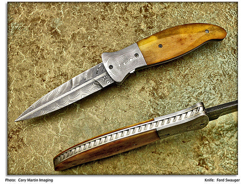 "OKCA 2007 Club Knife - Swauger, Ford - Amber Bone Folder -""Dial"" Lock Folder"