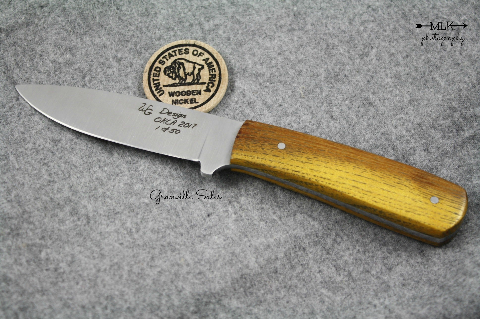 Huey, Steven - Osage Orange Goddard Tribute Knife - Fixed Blade