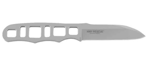HWY Rescue - Skeletonized SS Backup Knife w/Sheath - Fixed Blade