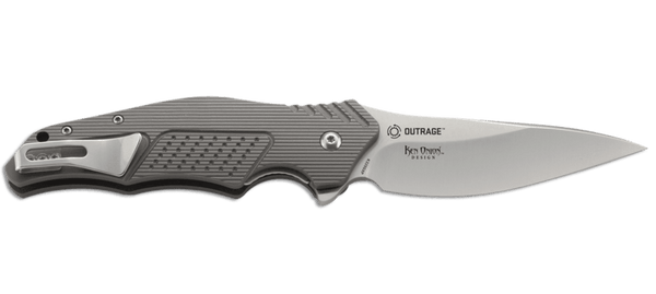 Outrage - Aluminum Ball Bearing Flipper - LinerLock Folder