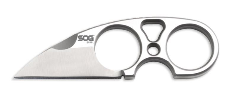 SOG Snarl - SS Sheepsfoot Neck Knife w/Sheath - Fixed Blade