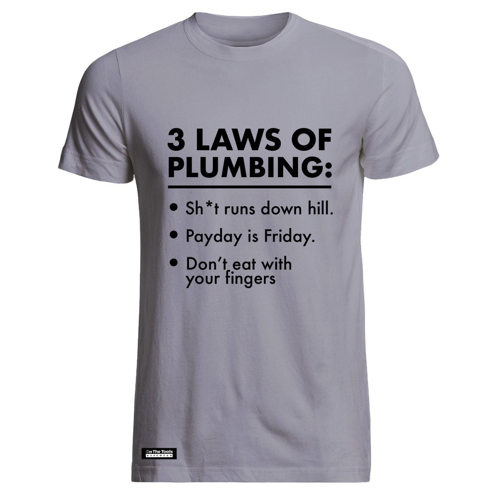 3 laws of plumbing tee onthetools for Plumber t shirt cleavage