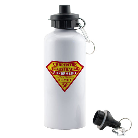Badass Superhero Carpenter Water Bottle
