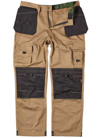 Apache Holster Pocket Workwear Trouser Stone