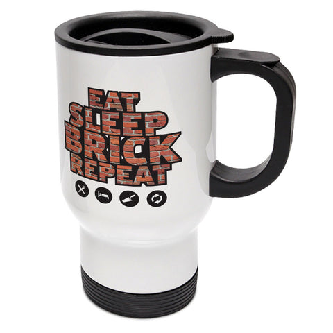 Eat, Sleep, Plaster, Repeat Travel Mug