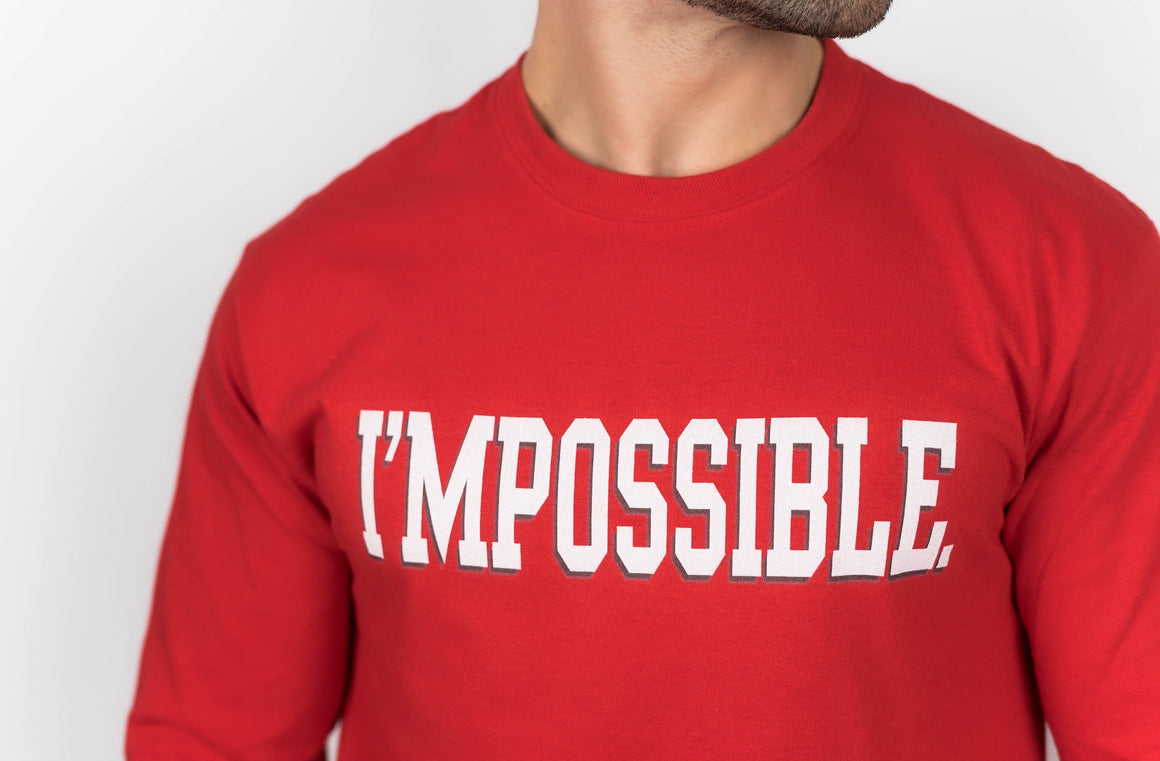 I'MPOSSIBLE ACADEMY 94' Long-Sleeve Tee - Red