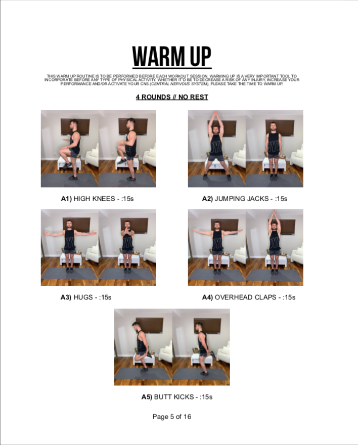 AT-HOME WORKOUT EBOOK