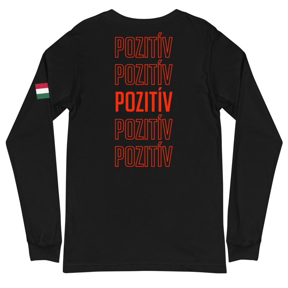 HUNGARY POZITÍV Women's Long-Sleeve Tee - Black