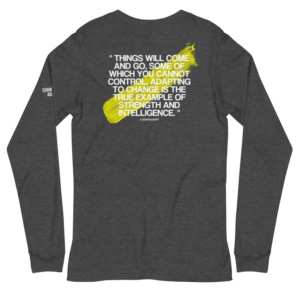 Limited Edition C/A QUOTE Long-sleeve Tee - Dark Heather