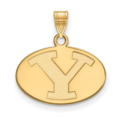 Sterling Silver w/GP LogoArt Brigham Young University Small Pendant