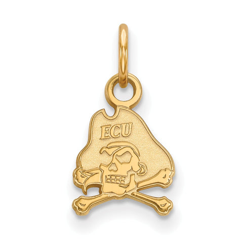 10ky LogoArt East Carolina University XS Pendant