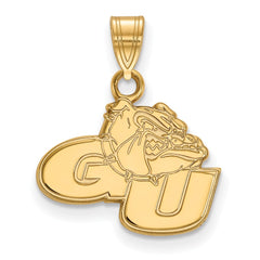 Sterling Silver w/GP LogoArt Gonzaga University Small Pendant