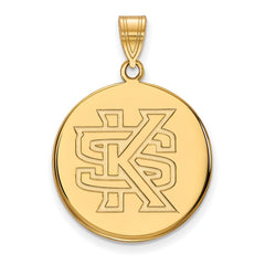 14ky LogoArt Kennesaw State Large Disc Pendant