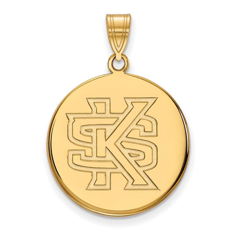 10ky LogoArt Kennesaw State Large Disc Pendant