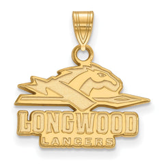 14ky LogoArt Longwood University Small Pendant