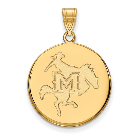 14ky LogoArt McNeese State University Large Disc Pendant
