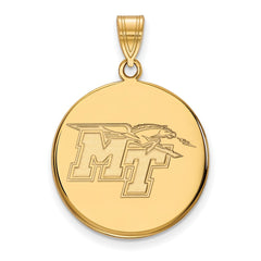 10ky LogoArt Middle Tennessee State University Large Disc Pendant
