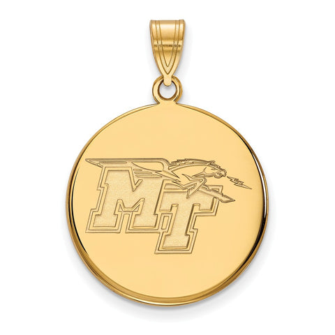 14ky LogoArt Middle Tennessee State University Large Disc Pendant