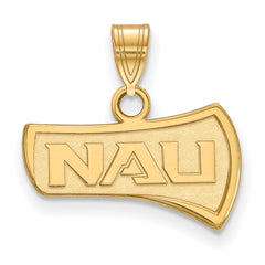 Sterling Silver w/GP LogoArt Northern Arizona University Small Pendant