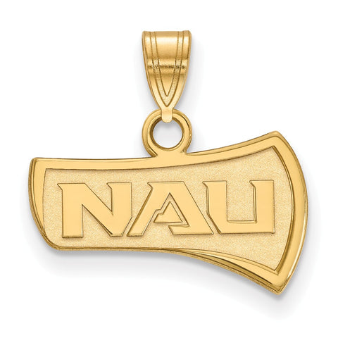 14ky LogoArt Northern Arizona University Small Pendant
