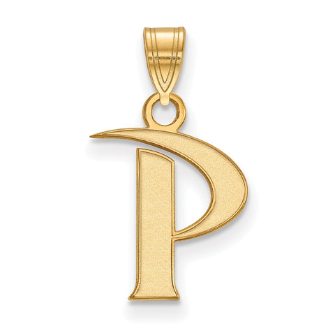 Sterling Silver w/GP LogoArt Pepperdine University Small Pendant