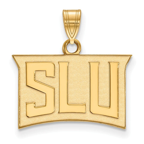 Sterling Silver w/GP LogoArt St. Louis University Small Pendant