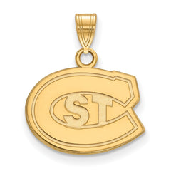 Sterling Silver w/GP LogoArt St. Cloud State Small Pendant