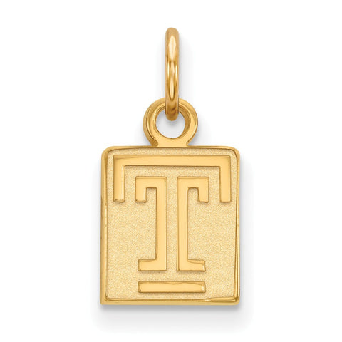 Sterling Silver w/GP LogoArt Temple University XS Pendant