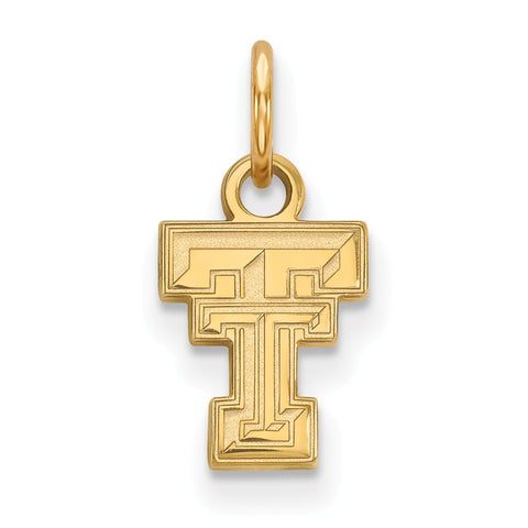 10ky LogoArt Texas Tech University XS Pendant