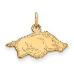 10ky LogoArt University of Arkansas Small Pendant