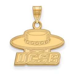 10ky LogoArt University of California Santa Barbara Small Pendant
