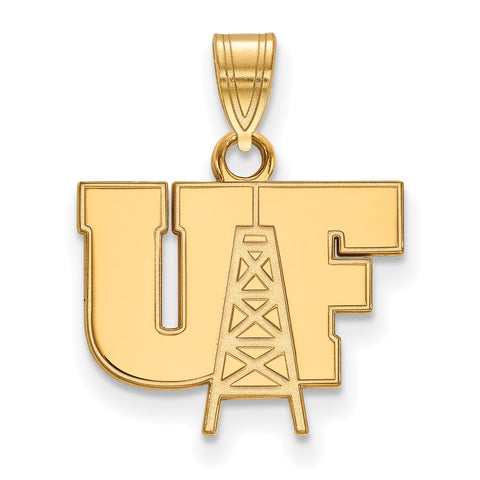 Sterling Silver w/GP LogoArt University of Findlay Small Pendant